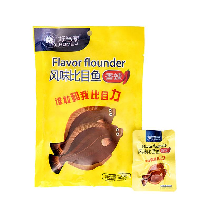 风味比目鱼(香辣)120g/袋